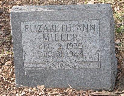 MILLER, ELIZABETH ANN - Washington County, Nebraska   ELIZABETH ANN MILLER - Nebraska Gravestone Photos