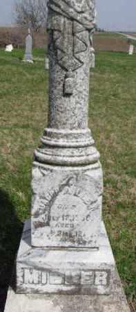 MILLER, JACOB - Washington County, Nebraska | JACOB MILLER - Nebraska Gravestone Photos