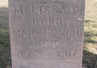 MILLER, MELISSA A. (CLOSE UP) - Washington County, Nebraska | MELISSA A. (CLOSE UP) MILLER - Nebraska Gravestone Photos