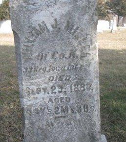 MILLER, WILLIAM J. (CLOSE UP) - Washington County, Nebraska   WILLIAM J. (CLOSE UP) MILLER - Nebraska Gravestone Photos