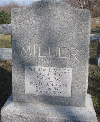MILLER, MARY JANE - Washington County, Nebraska | MARY JANE MILLER - Nebraska Gravestone Photos