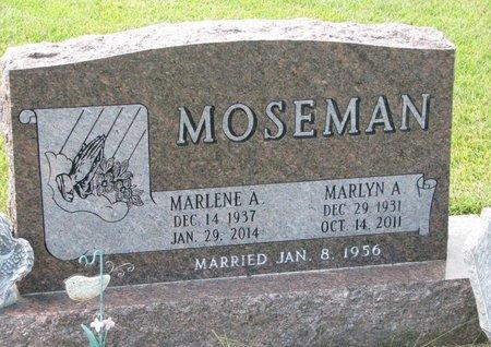 MOSEMAN, MARLENE A. - Washington County, Nebraska | MARLENE A. MOSEMAN - Nebraska Gravestone Photos