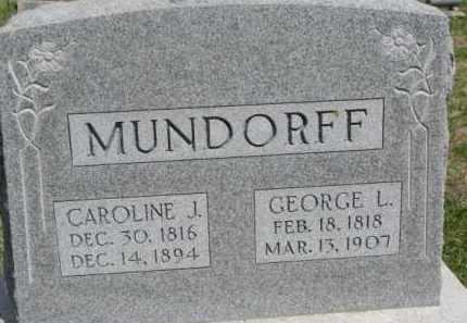 MUNDORFF, GEORGE L. - Washington County, Nebraska | GEORGE L. MUNDORFF - Nebraska Gravestone Photos