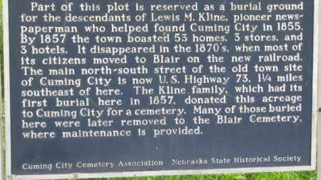 *CUMING CITY, NEBRASKA HISTORICAL MARKER, PART 2 - Washington County, Nebraska | NEBRASKA HISTORICAL MARKER, PART 2 *CUMING CITY - Nebraska Gravestone Photos