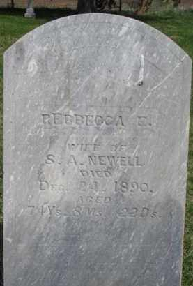 NEWELL, REBBECCA E. - Washington County, Nebraska | REBBECCA E. NEWELL - Nebraska Gravestone Photos