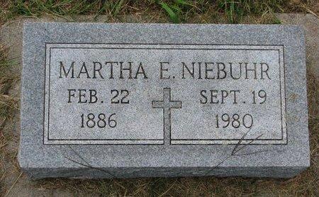 NIEBUHR, MARTHA E. - Washington County, Nebraska | MARTHA E. NIEBUHR - Nebraska Gravestone Photos