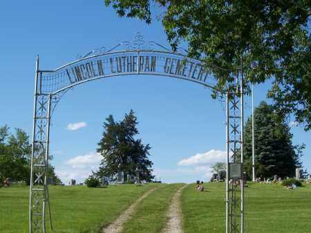 *LINCOLN LUTHERAN CEMETERY, ENTRANCE TO - Washington County, Nebraska   ENTRANCE TO *LINCOLN LUTHERAN CEMETERY - Nebraska Gravestone Photos