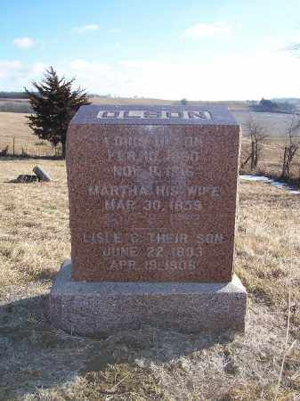 OLSON, LOUIS - Washington County, Nebraska | LOUIS OLSON - Nebraska Gravestone Photos