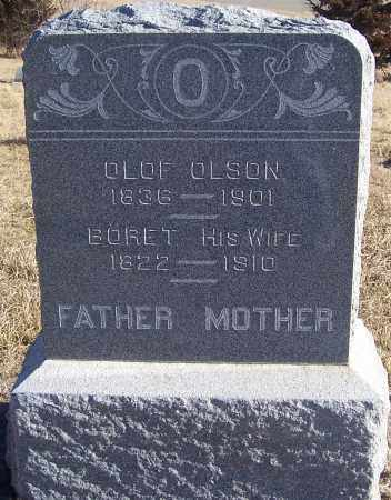 OLSON, BORET - Washington County, Nebraska | BORET OLSON - Nebraska Gravestone Photos