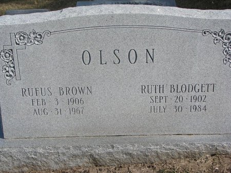 OLSON, RUFUS BROWN - Washington County, Nebraska | RUFUS BROWN OLSON - Nebraska Gravestone Photos