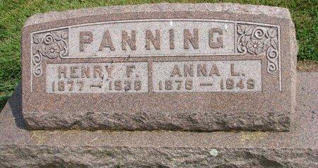 PANNING, ANNA L. - Washington County, Nebraska | ANNA L. PANNING - Nebraska Gravestone Photos