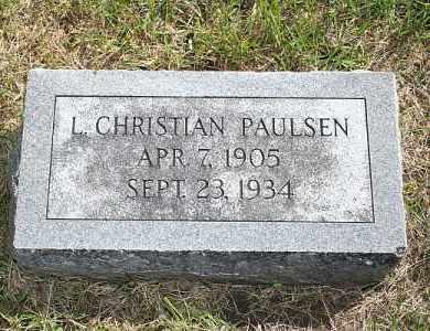 PAULSEN, L. CHRISTIAN - Washington County, Nebraska   L. CHRISTIAN PAULSEN - Nebraska Gravestone Photos