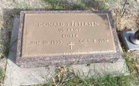 PETERSEN, DONALD I (MILITARY MARKER) - Washington County, Nebraska | DONALD I (MILITARY MARKER) PETERSEN - Nebraska Gravestone Photos