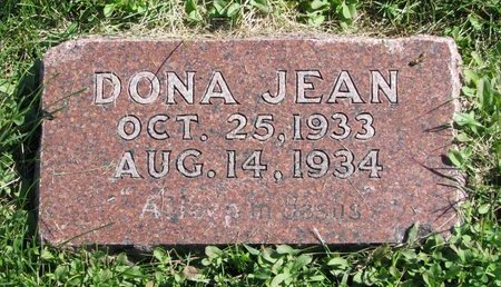 PETERSEN, DONA JEAN - Washington County, Nebraska   DONA JEAN PETERSEN - Nebraska Gravestone Photos