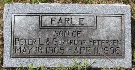 PETERSEN, EARL E. - Washington County, Nebraska   EARL E. PETERSEN - Nebraska Gravestone Photos