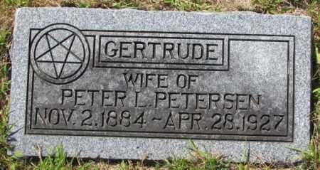 PETERSEN, GERTRUDE - Washington County, Nebraska | GERTRUDE PETERSEN - Nebraska Gravestone Photos