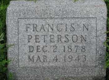 PETERSON, FRANCIS N. - Washington County, Nebraska | FRANCIS N. PETERSON - Nebraska Gravestone Photos