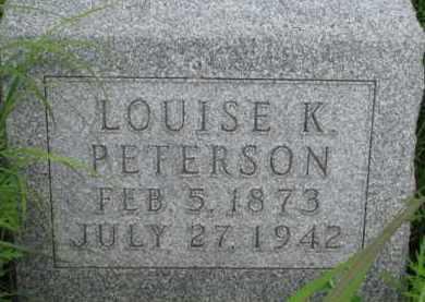 PETERSON, LOUISE K. - Washington County, Nebraska   LOUISE K. PETERSON - Nebraska Gravestone Photos