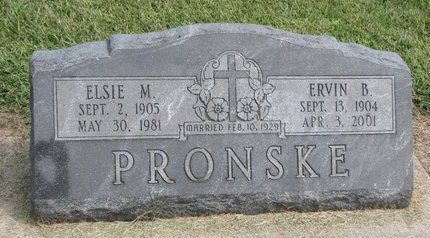 PRONSKE, ELSIE M. - Washington County, Nebraska | ELSIE M. PRONSKE - Nebraska Gravestone Photos