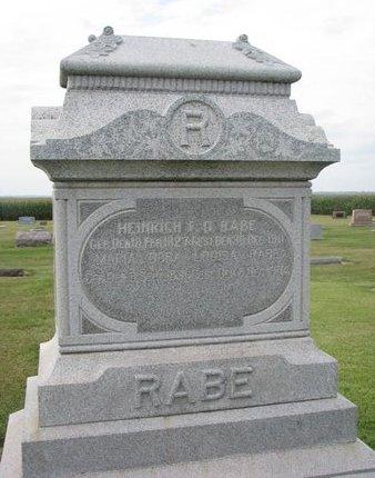 RABE, MARIA DORA LOUISA - Washington County, Nebraska | MARIA DORA LOUISA RABE - Nebraska Gravestone Photos