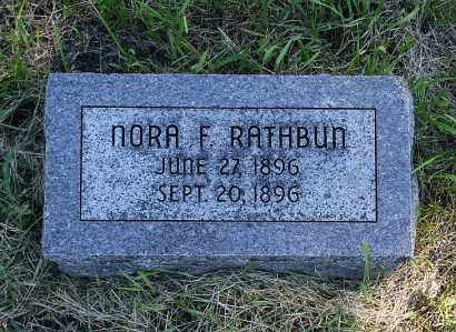 RATHBUN, NORA F. - Washington County, Nebraska   NORA F. RATHBUN - Nebraska Gravestone Photos