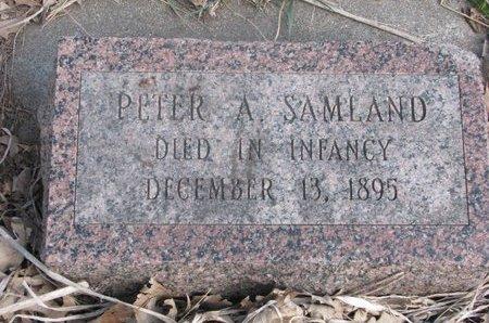 SAMLAND, PETER A. - Washington County, Nebraska | PETER A. SAMLAND - Nebraska Gravestone Photos