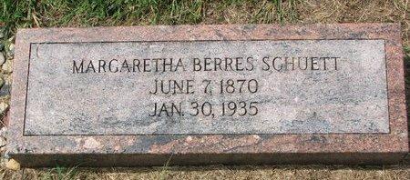 SCHUETT, MARGARETHA - Washington County, Nebraska | MARGARETHA SCHUETT - Nebraska Gravestone Photos