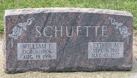 SCHUETTE, WILLIAM F. - Washington County, Nebraska | WILLIAM F. SCHUETTE - Nebraska Gravestone Photos
