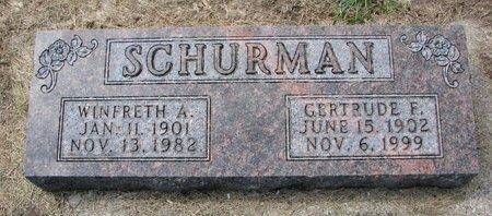 SCHURMAN, GERTRUDE F. - Washington County, Nebraska   GERTRUDE F. SCHURMAN - Nebraska Gravestone Photos