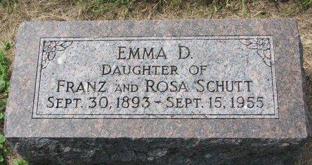 SCHUTT, EMMA D. - Washington County, Nebraska | EMMA D. SCHUTT - Nebraska Gravestone Photos
