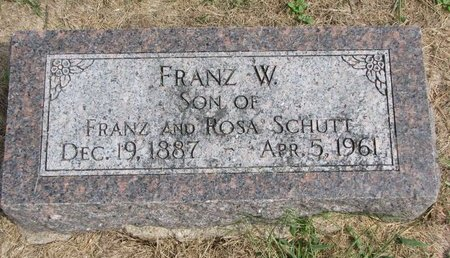 SCHUTT, FRANZ W. - Washington County, Nebraska | FRANZ W. SCHUTT - Nebraska Gravestone Photos