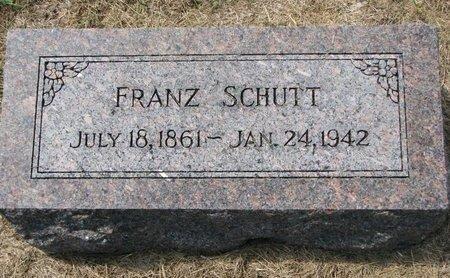 SCHUTT, FRANZ - Washington County, Nebraska   FRANZ SCHUTT - Nebraska Gravestone Photos