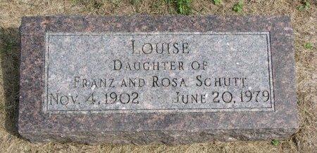 SCHUTT, LOUISE - Washington County, Nebraska   LOUISE SCHUTT - Nebraska Gravestone Photos