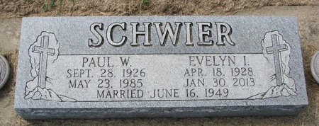 SCHWIER, PAUL W. - Washington County, Nebraska | PAUL W. SCHWIER - Nebraska Gravestone Photos
