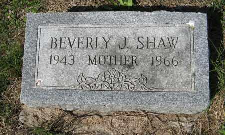 SHAW, BEVERLY J. - Washington County, Nebraska   BEVERLY J. SHAW - Nebraska Gravestone Photos