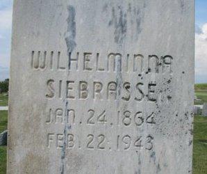 SIEBRASSE, WILHELMINNA (CLOSE UP) - Washington County, Nebraska | WILHELMINNA (CLOSE UP) SIEBRASSE - Nebraska Gravestone Photos
