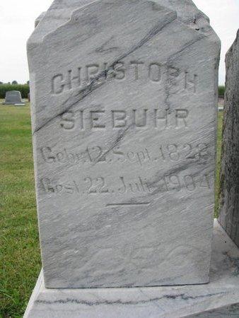 SIEBUHR, CHRISTOPH (CLOSE UP) - Washington County, Nebraska | CHRISTOPH (CLOSE UP) SIEBUHR - Nebraska Gravestone Photos