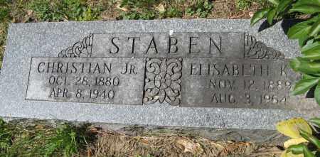 STABEN, ELISABETH K. - Washington County, Nebraska | ELISABETH K. STABEN - Nebraska Gravestone Photos