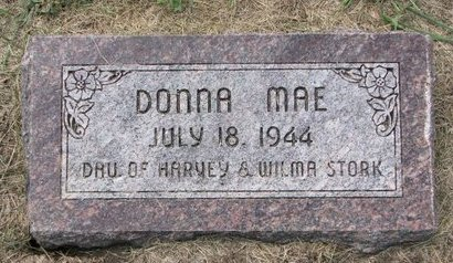 STORK, DONNA MAE - Washington County, Nebraska | DONNA MAE STORK - Nebraska Gravestone Photos