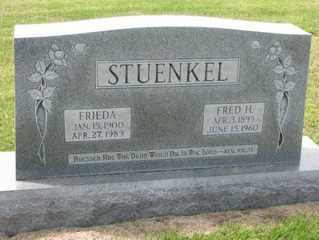 STUENKEL, FRED H. - Washington County, Nebraska | FRED H. STUENKEL - Nebraska Gravestone Photos