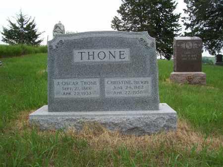 THONE, CHRISTINE - Washington County, Nebraska | CHRISTINE THONE - Nebraska Gravestone Photos