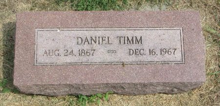 TIMM, DANIEL - Washington County, Nebraska | DANIEL TIMM - Nebraska Gravestone Photos