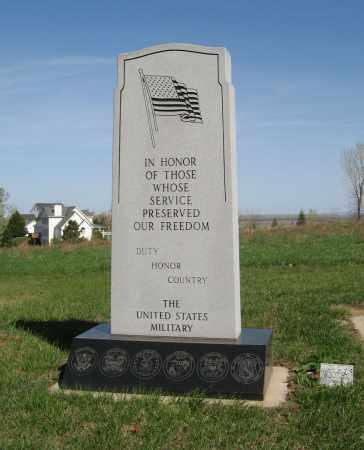 *WAR, MEMORIAL (VIEW OF LARGE STONE) - Washington County, Nebraska | MEMORIAL (VIEW OF LARGE STONE) *WAR - Nebraska Gravestone Photos
