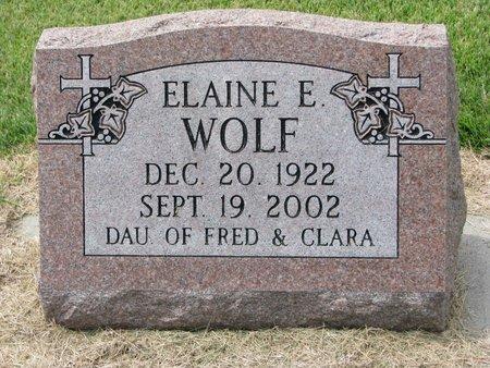 WOLF, ELAINE E. - Washington County, Nebraska | ELAINE E. WOLF - Nebraska Gravestone Photos