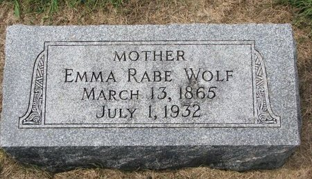 WOLF, EMMA - Washington County, Nebraska | EMMA WOLF - Nebraska Gravestone Photos