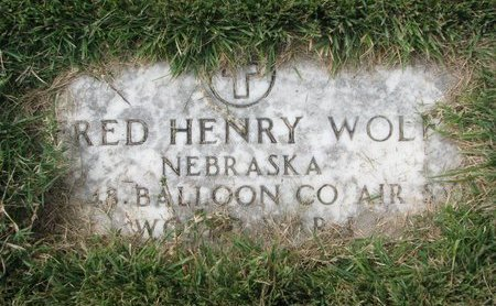 WOLF, FRED HENRY (MILITARY) - Washington County, Nebraska   FRED HENRY (MILITARY) WOLF - Nebraska Gravestone Photos