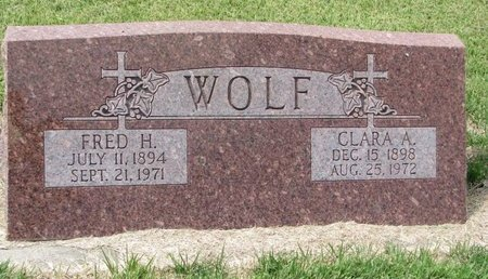 WOLF, FRED HENRY - Washington County, Nebraska | FRED HENRY WOLF - Nebraska Gravestone Photos