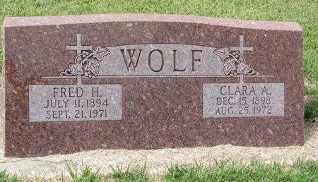 WOLF, FRED HENRY - Washington County, Nebraska | FRED HENRY WOLF - Nebraska Gravestone Photos