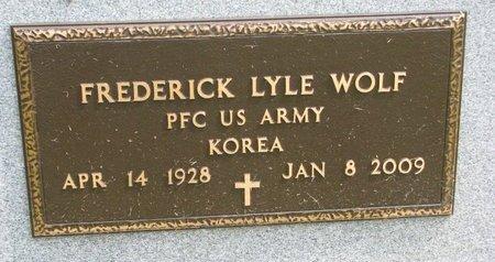 WOLF, FREDERICK LYLE (MILITARY) - Washington County, Nebraska | FREDERICK LYLE (MILITARY) WOLF - Nebraska Gravestone Photos