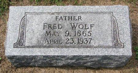 WOLF, FRED - Washington County, Nebraska   FRED WOLF - Nebraska Gravestone Photos
